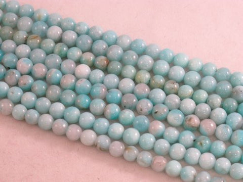 Amazonite Nature Amazonite A Grade Blue Color 6mm Round 70pcs 15.5'' Per Strand
