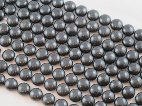 Shell Pearl Black Oblate Shape 15mm in Diameter 27pcs 15''per Strand