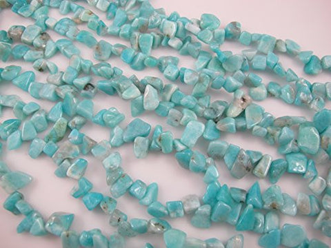 Amazonite Natural Gemstone Beads Chips Shape Blue/yellow Color 6-16mm 50-60pcs 16'' Jewelry Making Beads