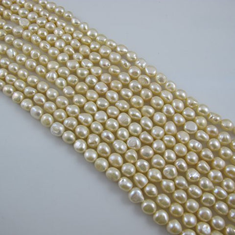 Freshwater Pearl Nugget Shape Peach Color 8-9mm 40pcs 15.5 Inch Per Strand