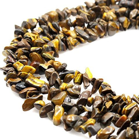 BRCbeads Nice Yellow Tiger Eye Chips Beads 7~8mm 34 Inches per strand For Jewelery Making