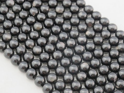 Hypersthene Beads Nature Gemstone Black Color Whith Sparkle Round 8mm 49pcs 16'' Per Strand
