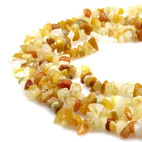 BRCbeads Nice Dyed Yellow Jade Chips Beads 7~8mm 34 Inches per strand For Jewelery Making