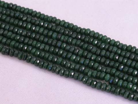 Mountain Jade (Dyed) Dark Green Color 2x4mm Rondelle 160pcs 15.5'' Per Strand