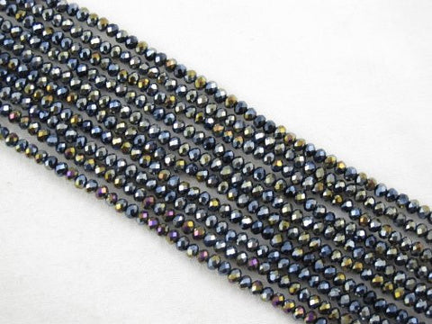 Glass Crystal Faceted Rondelle Finding Spacer Beads 3x2mm 200pcs Multi-Color 17''per Strand