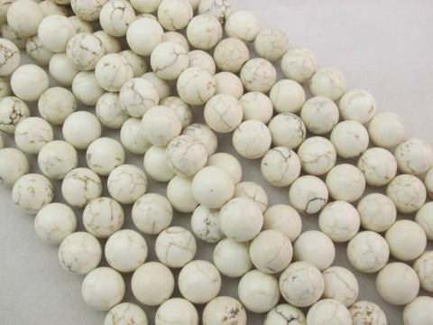 Magnesite Turqoise Dyed White Color Round Beads 14mm 28pcs 16'' Per Strand