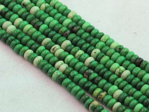 Nature Chinese Turquoise Roundell Green 3*4mm 16'' Per Strand 156pcs