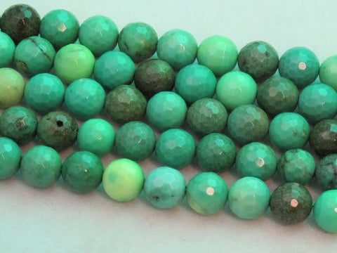 "Green Chrysoprase Beads Gemstone 8mm Facted Round 15.5"" Strand Finding Charms Jewelry Making&design Beading"