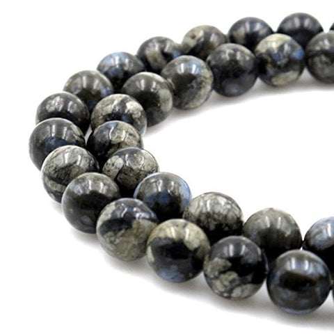 BRCbeads Gorgeous Natural Grey Opal Gemstone Round Loose Beads 8mm Approxi 15.5 inch 45pcs 1 Strand per Bag for Jewelry Making