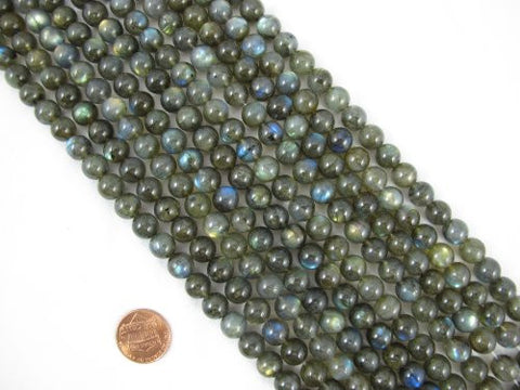 Natural Labradorite AA Grade Gemstone Round 9mm 44pcs Per Strand 15.5''