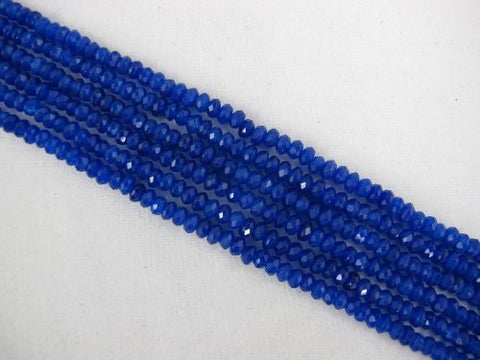 Mountain Jade (Dyed) Blue Color 3x5mm Faceted Rondelle 122pcs 15.5'' Per Strand