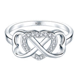 Boruo 925 Sterling Silver Ring- Heart