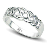 Boruo 925 Sterling Silver Ring- Half Celtic Knot