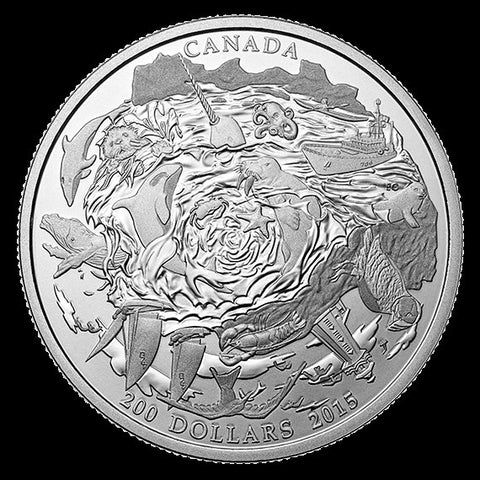 $200 for $200 Coastal Waters Canada Silver Coin 2015 - canoutlet.com