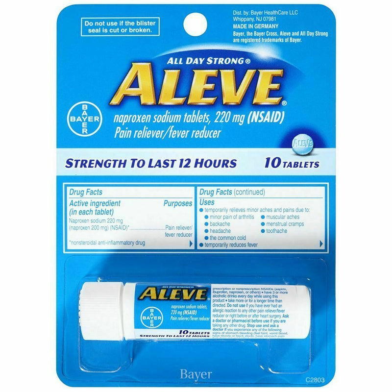 ALEVE 220MG Tablets Vial 10'S