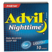 Advil Nighttime Liquid-Gels 10's - canoutlet.com