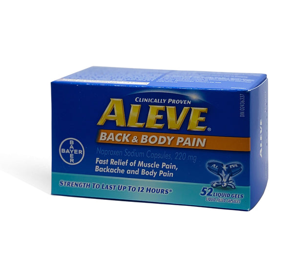 Aleve Back and Body Pain 220mg 52 Liquid Gels