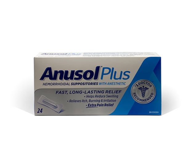 Anusol Plus Hemorrhoidal Suppositories (24 Pack)