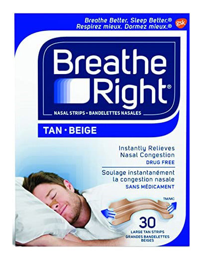 Breathe Right Strips Large  (30 Tan Strips)