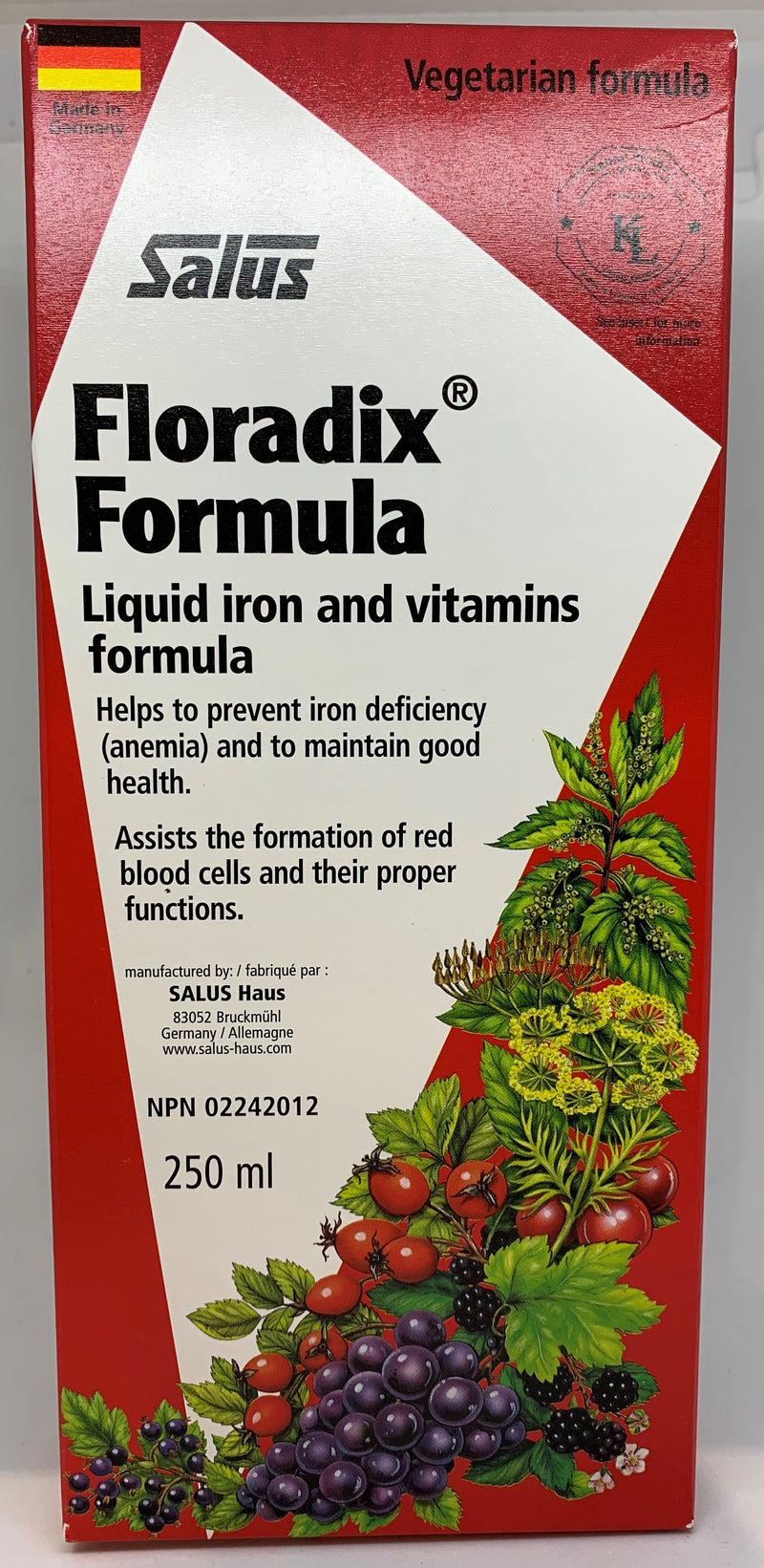 Floradix  Liquid Iron and Vitamin Formula 250ml