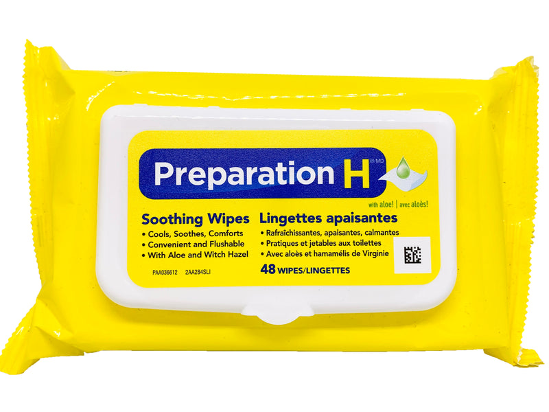 Preparation H Soothing Wipes 48 Pack