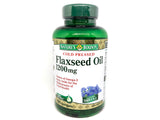 Nature's Bounty Flaxseed Oil 1200mg 100 Softgels