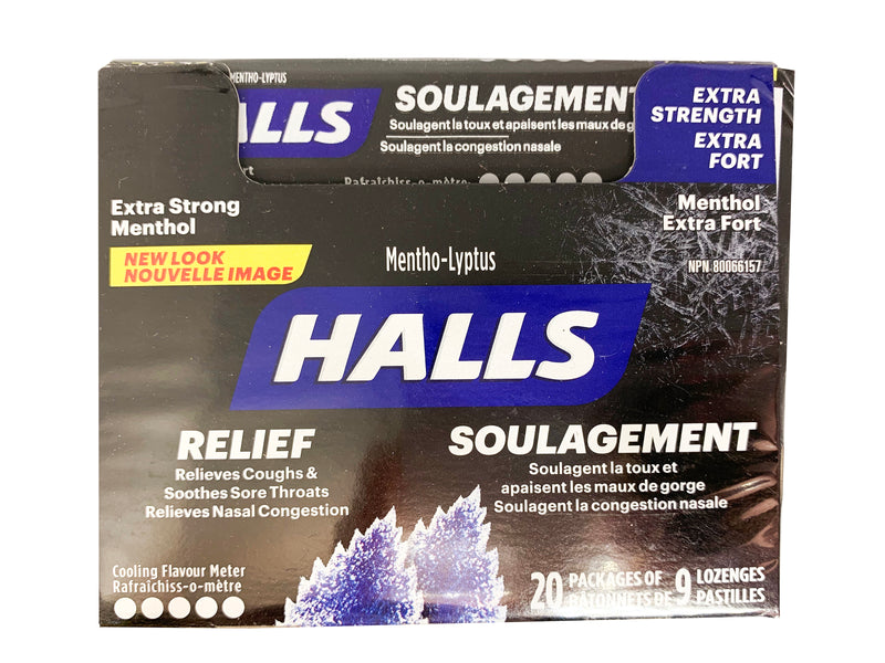 Halls Extra Strength Menthol 20 Packs