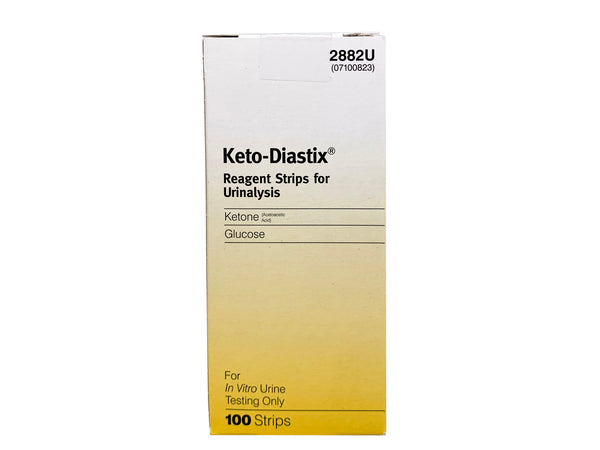Keto-Diastix Reagent Strips for Urinalysis (100 strips)