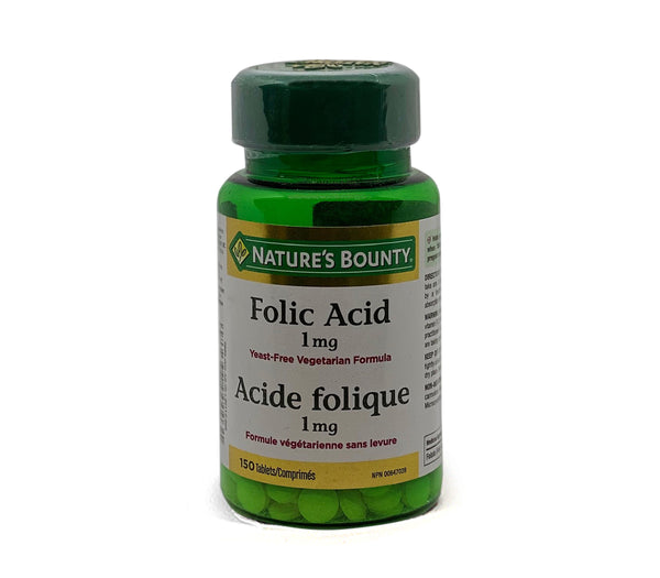 Nature's Bounty Folic Acid 1mg 150 Tablets