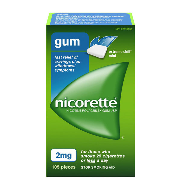 Nicorette Chewing Gum 2mg Extreme Chill Mint (105)
