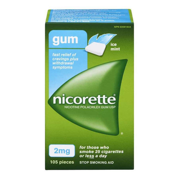 Nicorette Chewing Gum 2mg Ice Mint (105)