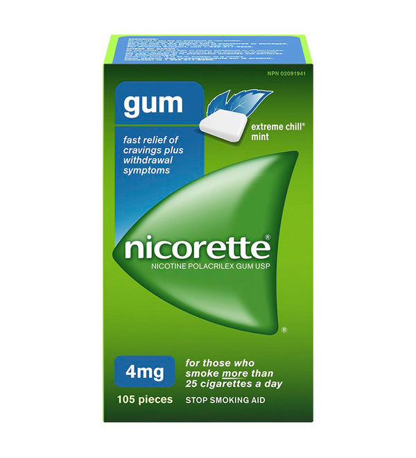 Nicorette Chewing Gum 4mg Extreme Chill Mint (105)