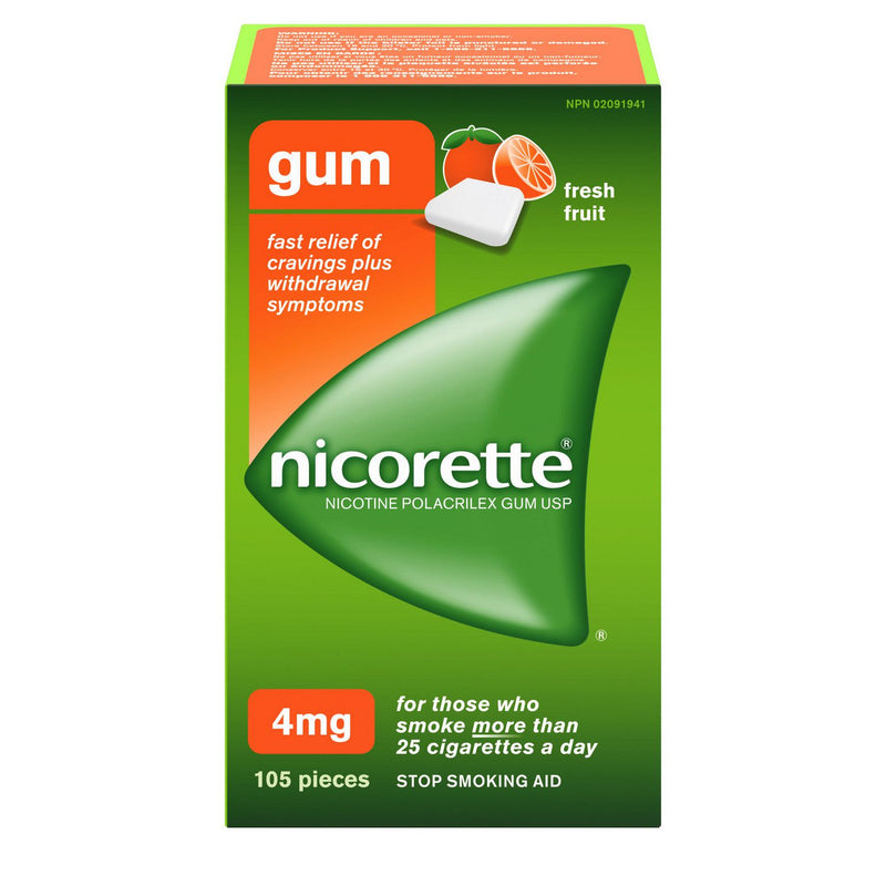 Nicorette Chewing Gum 4mg Fresh Fruit