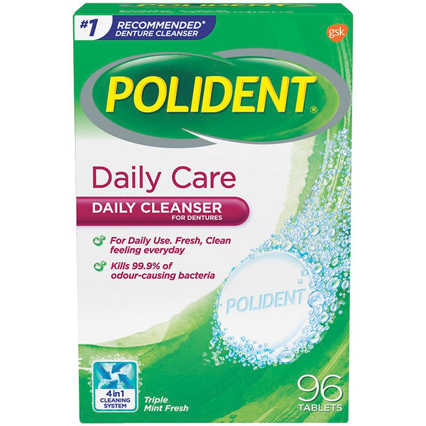 Polident Daily Care (96 tablets)