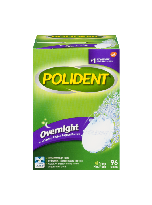 Polident Overnight Mint Fresh (96 tablets)