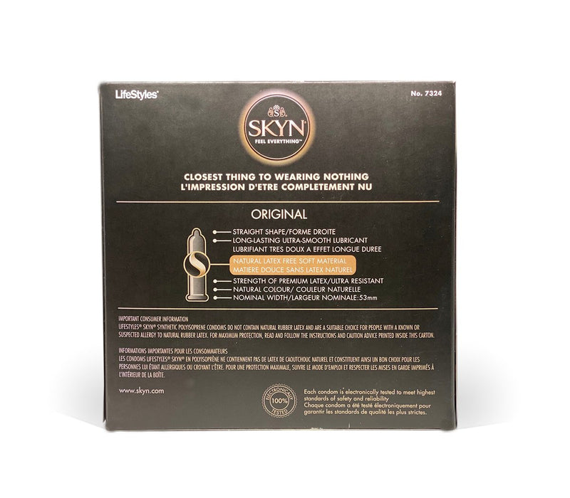LifeStyles SKYN ORIGINAL Condoms - Latex-free Lubricated Condoms (Pack of 24)