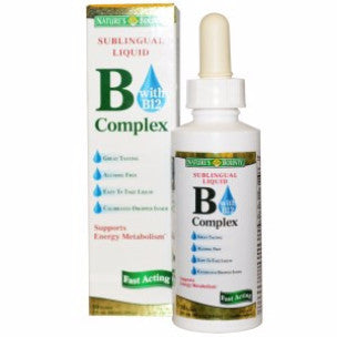 Nature's Bounty B Complex with B12 Sublingual Liquid 59ml - canoutlet.com