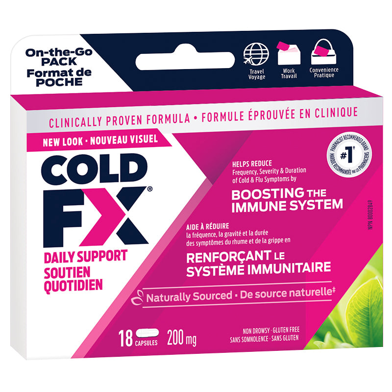 Cold-FX 200mg On-The-Go Pack (18 Capsules)