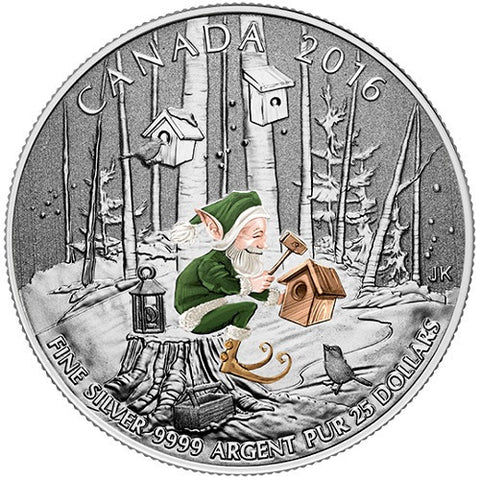 $25 Woodland Elf 2016 Canadian Silver Coin - canoutlet.com