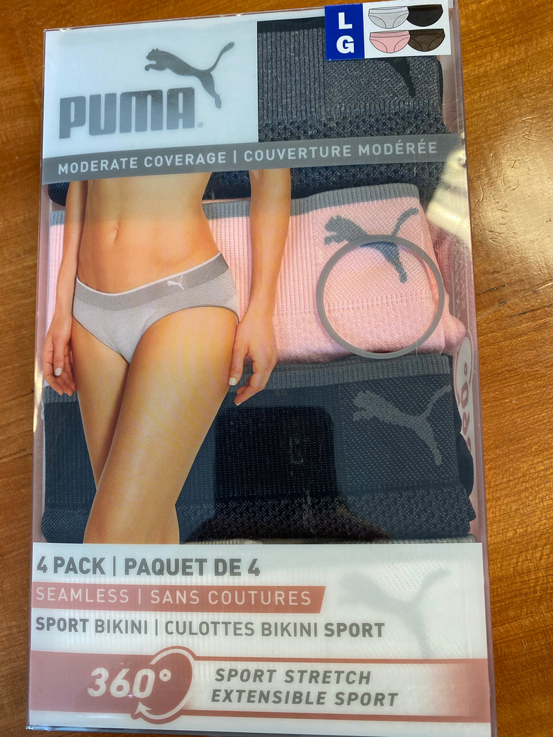 Puma Women's Sport Bikini Briefs/Panties (4 pack)
