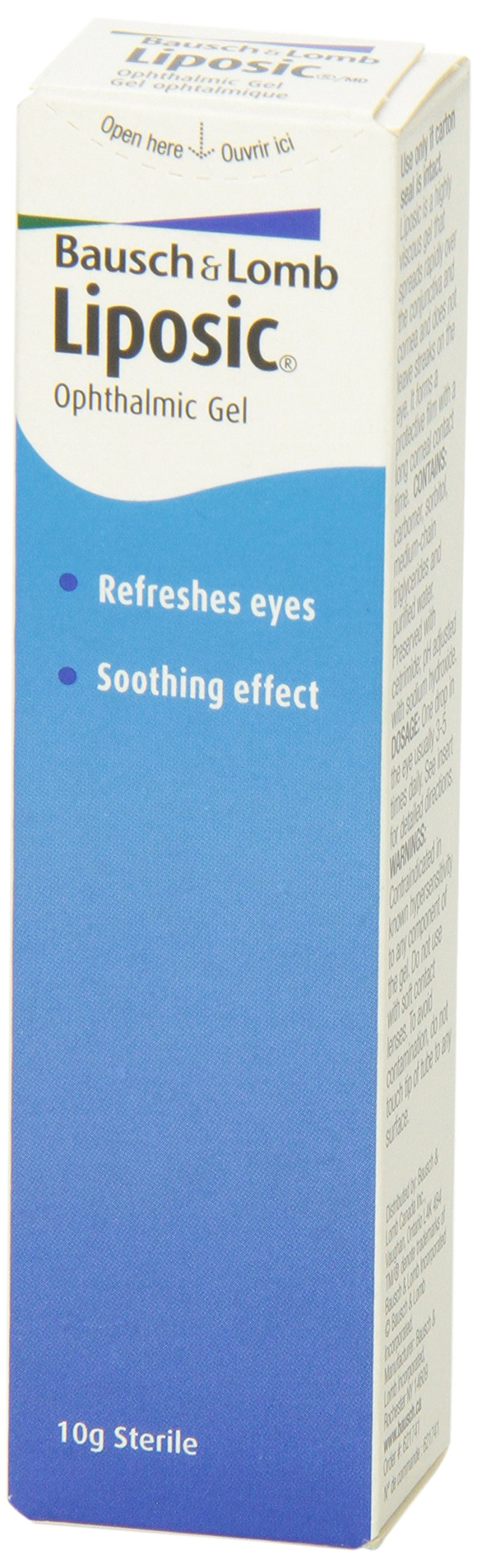 Liposic Bausch & Lomb Ophthalmic Liq Gel 10g (.35oz)