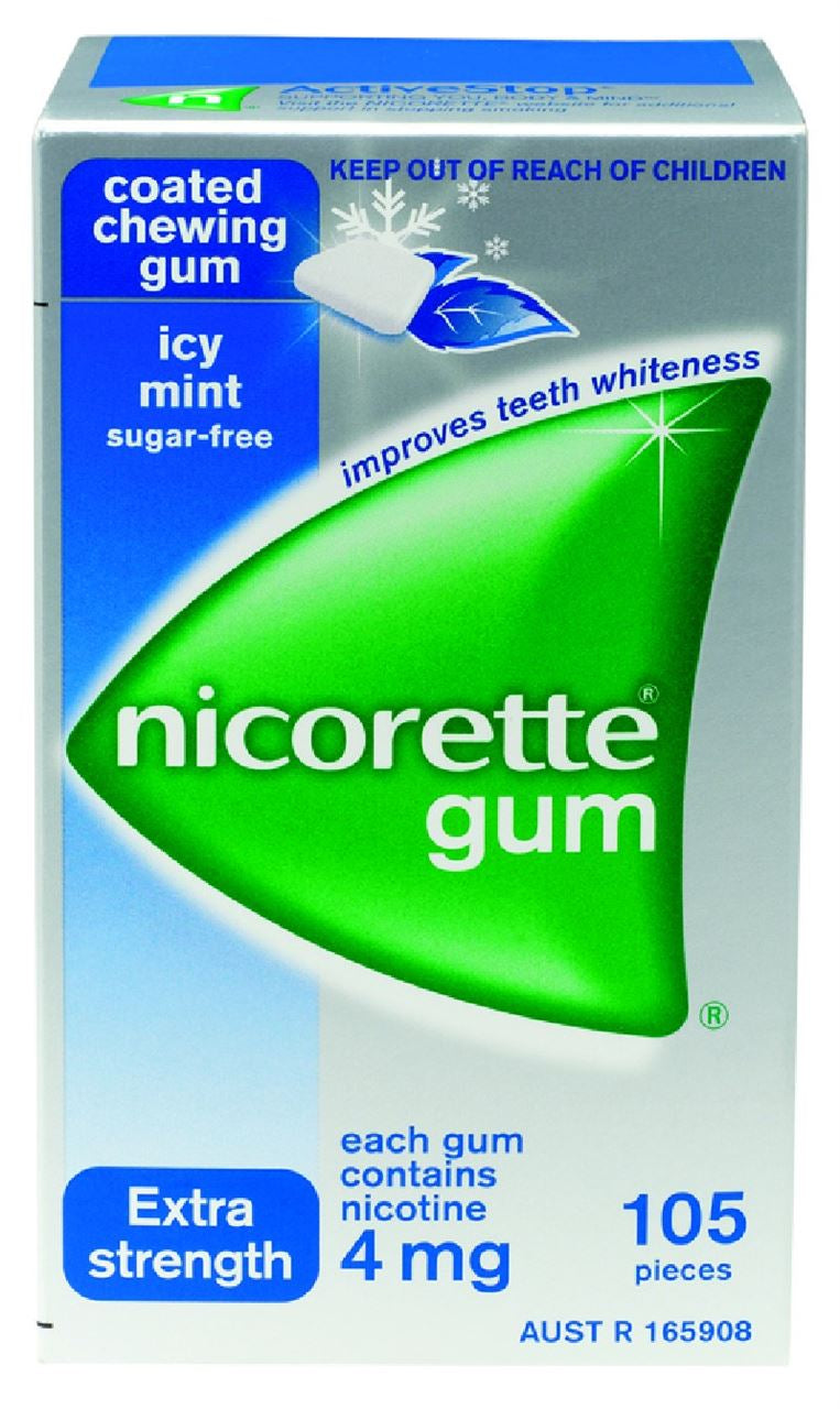 Nicorette Extreme Chill with Menthol 4mg Whitening (105 Pieces)