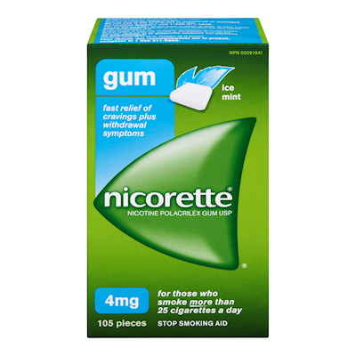 Nicorette Chewing Gum 4mg Ice Mint (105)