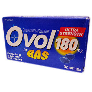 Ovol Gas Ultra Strength Softgels 180mg - canoutlet.com