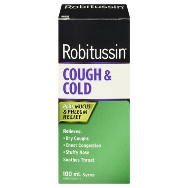 Robitussin Cough and Cold Plus Mucus Relief 100mL