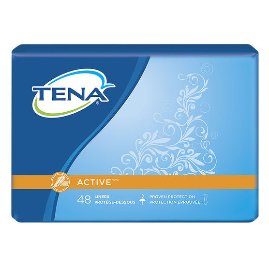 Tena Active Pantiliners  Regular  48 Pack - canoutlet.com