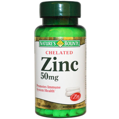Nature's Bounty Zinc 50mg 100 Caplets - canoutlet.com