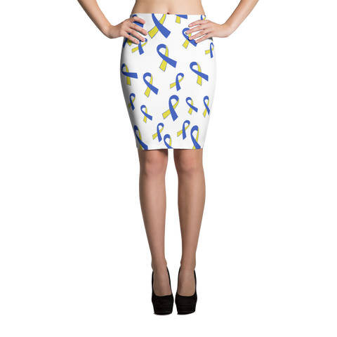 Down Syndrome Awareness Pencil Skirt