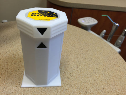Bot Bowl® White Dispenser