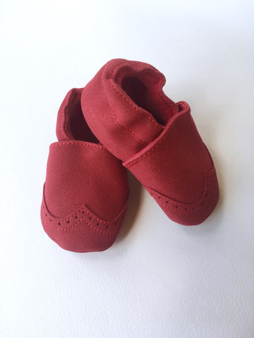 Nubuck Suede Moccasins (Genuine Leather) - Red